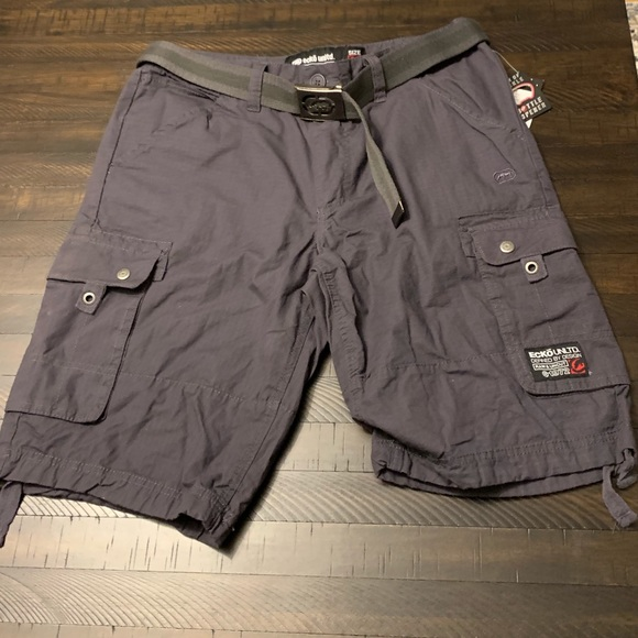 3dd73947 Ecko Unlimited Shorts | Ecko Unltd Cotton Ripstop Belted Cargo Short ...